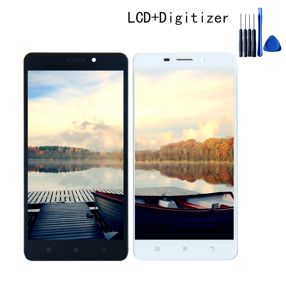 Good Quality Touch Screen Digitizer LCD Display Assembly Frame For lenovo A5600 A5860 A5890 1280*720 Free shipping