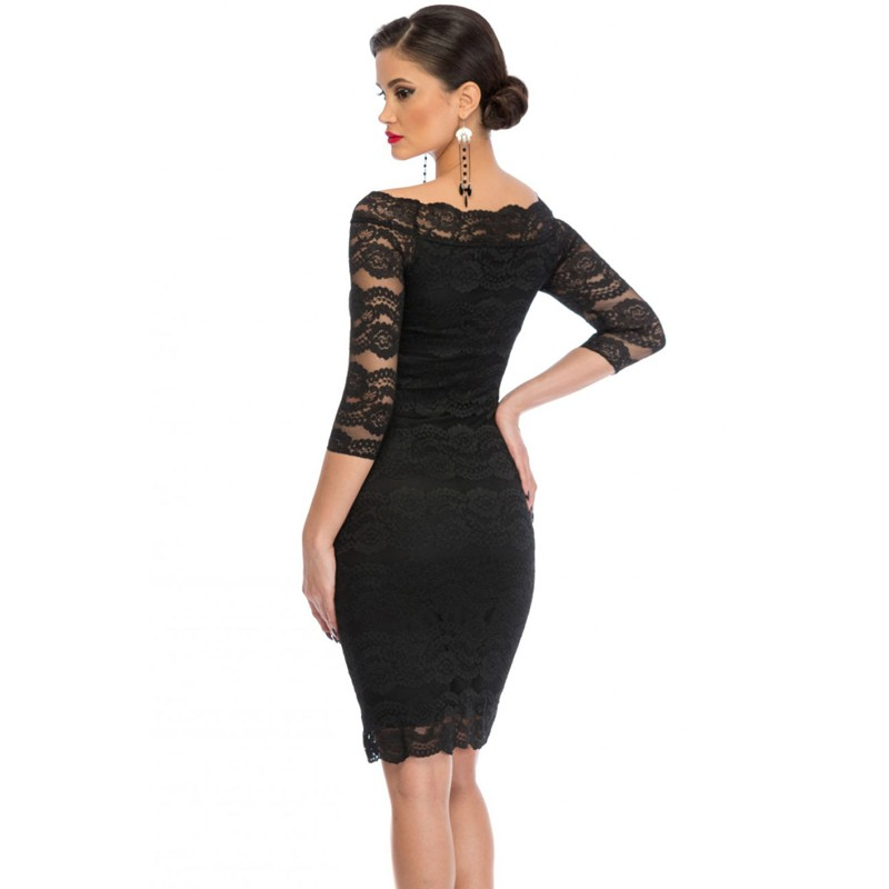 Zkess Womens Elegant Delicate Floral Lace Dress Casual Party Bodycon Special Occasion Bridemaid Mother of Bride Dress LC61291 8