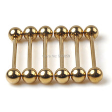 1PCS Gold Stainless Steel Sexy Eyebrow Nose Lip Ear Ring Tragus Earring Tongue Piercing Body Jewelry 16G 17G 18G 19G