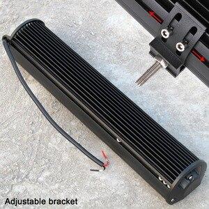 Image 5 - Barra de luz Led de 20 pulgadas Combo de inundación para camiones de carretera, barco, SUV, ATV, 4WD, 4x4, Flash estroboscópico de ámbar blanco, luces de trabajo de conducción
