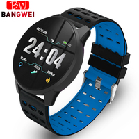 BANGWEI 2019 New Smart Health Watch Blood Pressure Heart Rate Sport Mode Smart Watch Men Women Pedometer Tracker Smart Watches