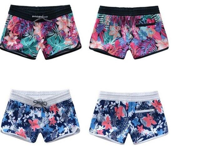 25189b3a2f Women floral-print diving shorts female loose beach shorts plus size swimming  trunks quick dry Bikini Bottoms hot shorts