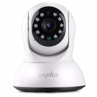 SANNCE NEW 720P HD Wireless IP Camera 1MP CCTV Security Camera Indoor Baby Monitor with two way Audio support up to 64GB TF Card