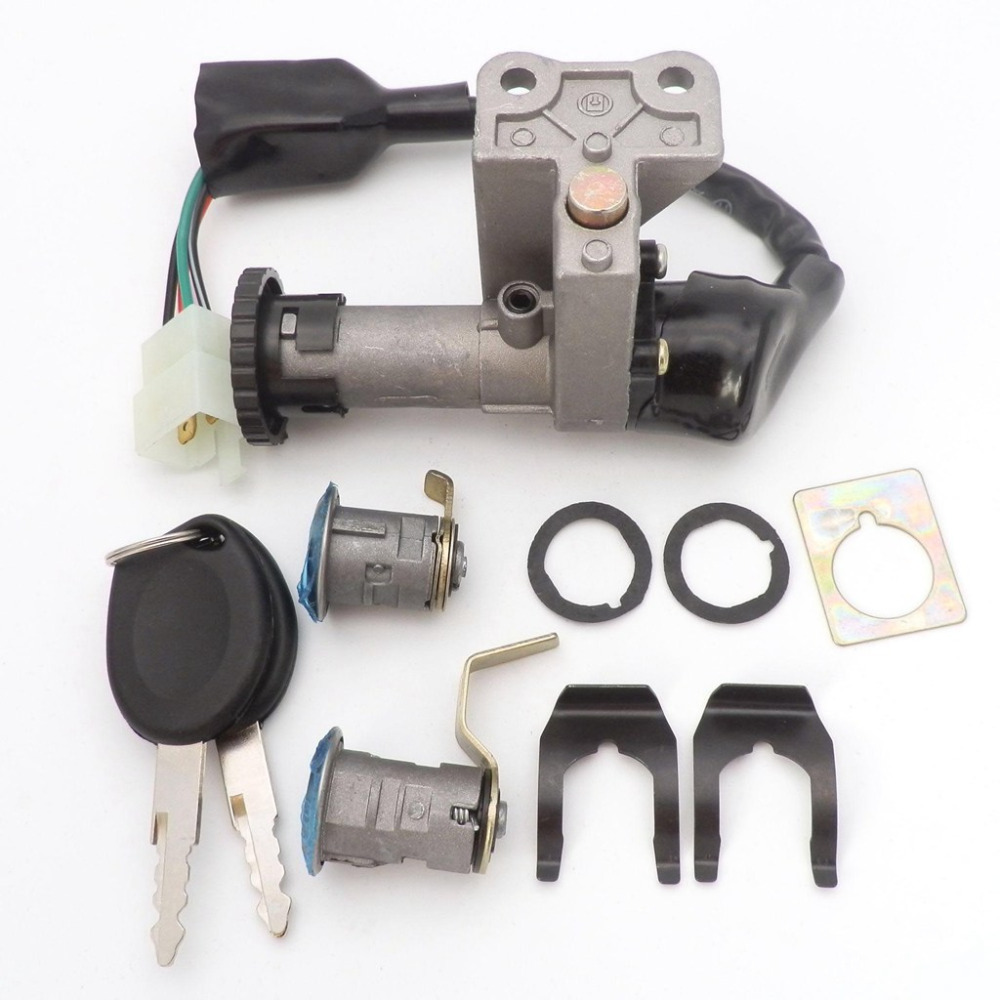 Chinese Gy6 150cc Wire Harness Wiring Assembly Scooter Moped For 11 Tow 4 Wires Ignition Switch Lock Pins 50cc