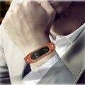 New genuine relógio de couro bandas cinta pulseira de substituição + fivela de metal para/xiaomi/mi pulseira 2 pulseira inteligente acessórios