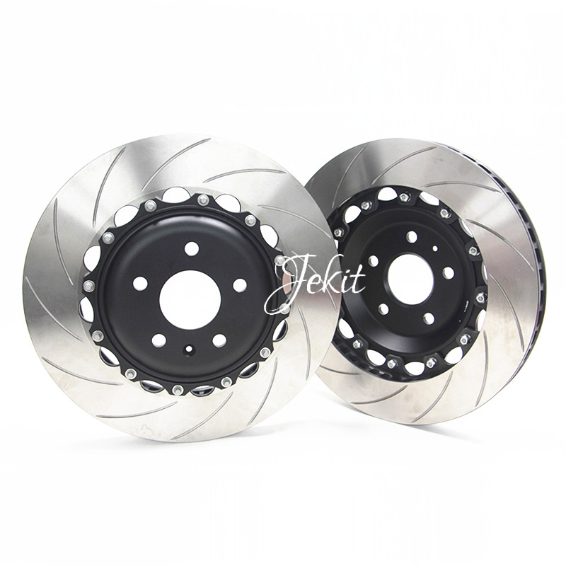 Jekit Brake rotors 355*28mm grooved disc for SKODA SUPERB 2016 for Tesla four pots brake calipers