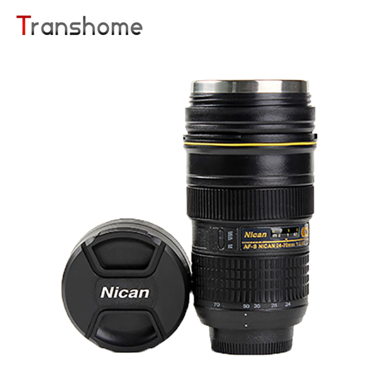 Transhome Creative Camera Lens Mug 420ml Generation Nikon 24 70 Stainless Steel Cups For Coffee Tea