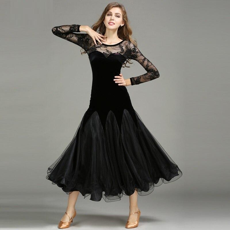 5066c41abba7a6 Ballroom jurken standaard stijldansen kleding Concurrentie standaard dans  jurk waltz tango foxtrot jurk sociale dans in Ballroom jurken standaard ...