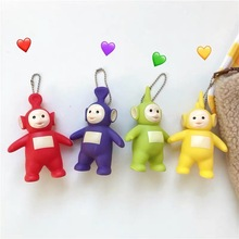 High Quality 2019 New Classic cartoon animal Teletubbies Cosplay keychain Tinky Winky Dipsy PVC Pendant bag hanging jewelry