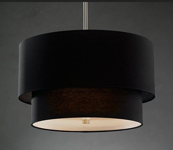 Nordic cloth pendant lights simple dining room bedroom study cafe single head pendant lamps round black white Pendant lamps ZA nordic small droplight contemporary and contracted single head dining room lamp creative bedroom study art cafe bar lamps