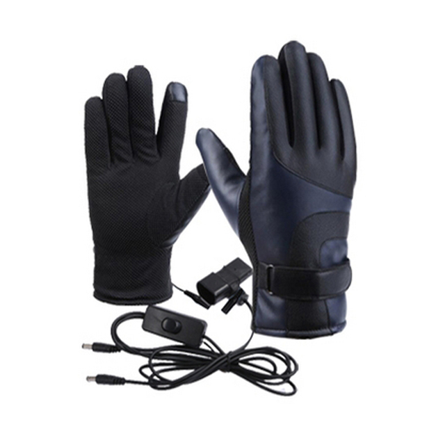 Winter Heated Gloves Warmer Electric Thermal Gloves Cycling Motorcycle Bicycle Skiing Gloves Unisex ON/OFF Switch With LED 1