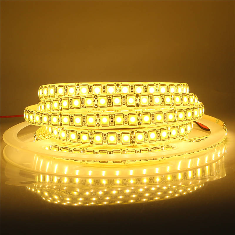 Upgraded Version SMD 5054 LED Strip Light 12V 5 Meters <font><b>300</b></font> <font><b>600</b></font> LEDs High Lumen LED Diode Ribbon Tape Light Better than 5050 5630 image