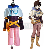 Black Clover Cosplay Yuno Outfit Uniforms Suit Outfit Clothes Cosplay Costumes Custom Made Any Size