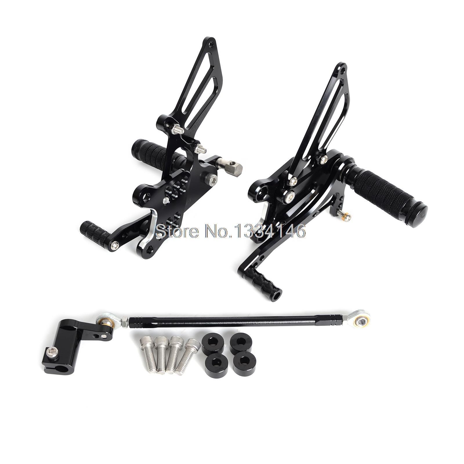 CNC Adjustable Rearset Foot Peg Rear Sets For Honda CBR929 CBR929RR 2001 2002 Black l r pillion foot peg for honda c70 ct90 cb125 cb200 cg110 cg125 jx110 jx125 xl250 xl350