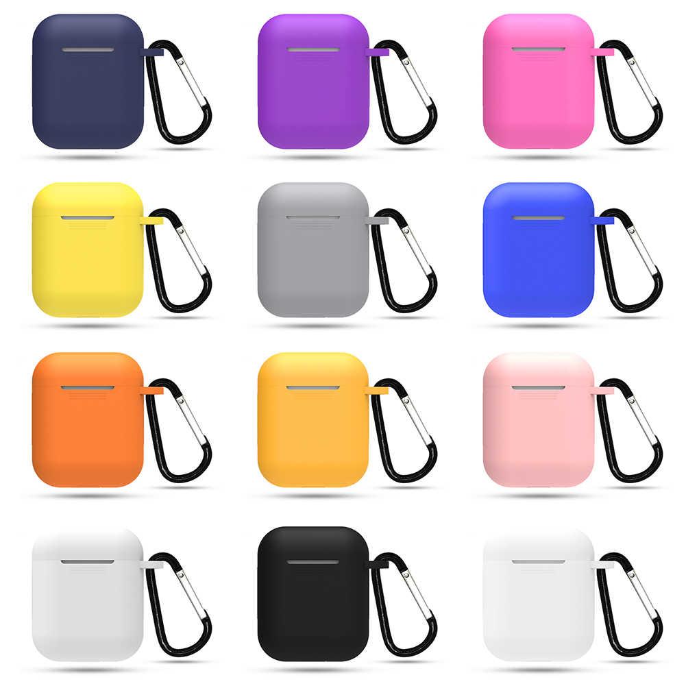 Mini miękkie silikonowe etui do Apple Airpods, odporna na wstrząsy pokrywa dla Apple AirPods przypadki słuchawek na poduszki powietrzne Protector Case