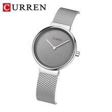 Mulheres Relógios Top Marca de luxo CURREN Nova Moda casual relógios de Pulso de Quartzo simples Senhoras Dom relógio relogio feminino 9016