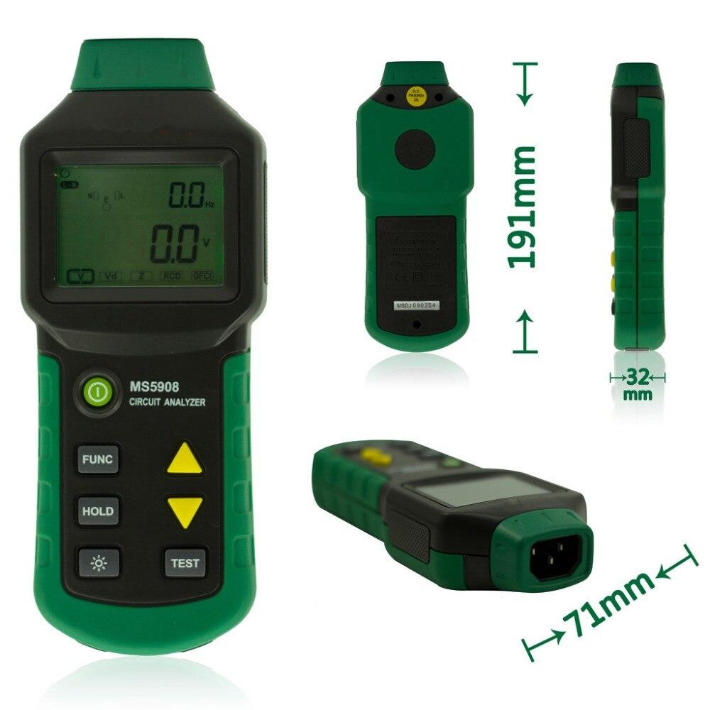 Voltage Tester Analisador de Circuito MS5908 TRMS