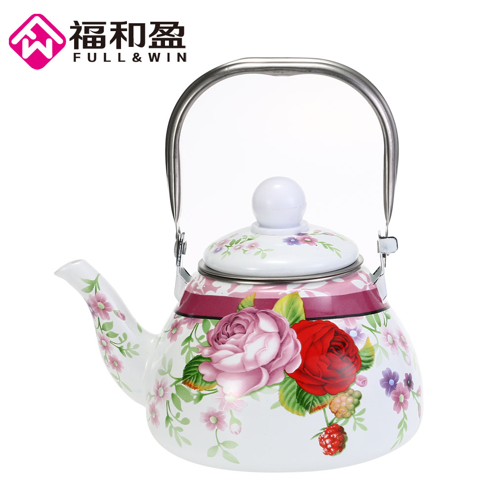 1 0L Enamel Pot Traditional Chinese Tea pot Pear shaped pot Thickened Water Kettle Electromagnetic Furnace