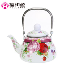 1.0L Enamel Pot Traditional Chinese Tea pot Pear shaped Thickened Water Kettle Electromagnetic Furnace Gas
