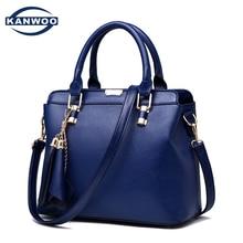 Женщины кожаная сумка Kabelky кроссбоди мешок мода популярные голубой твердый кисточка мешок 2016 новое поступление свободного покроя тотализатор B016