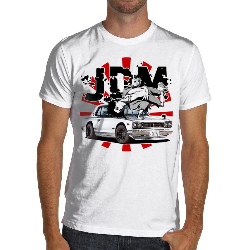 2018 New Hot sale 100% cotton Men'S Funny Summer Men Clothing Jdm Gtr C10 S To 3 Xl 1969 Drifting Datsun funny Tee Shirt