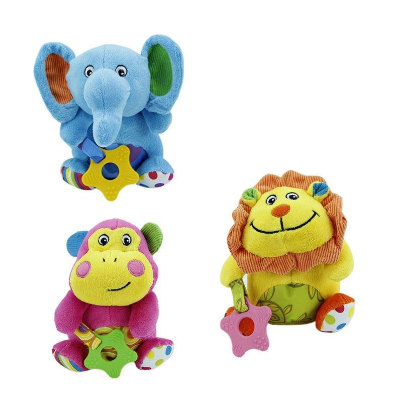 2016 Kawaii 3Styles Lion Monkey Elephant font b Plush b font font b Animal b font