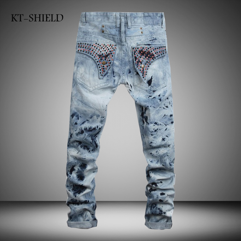 biker jean mens motorcycle moto Hip hop harem pants casual hombre ripped cargo pocket Brand denim trousers calca jeans masculina