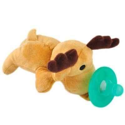 1 Pza. Chupetes de silicona para bebés, niños y niñas, chupetes de felpa de animales para bebés, venta al por mayor