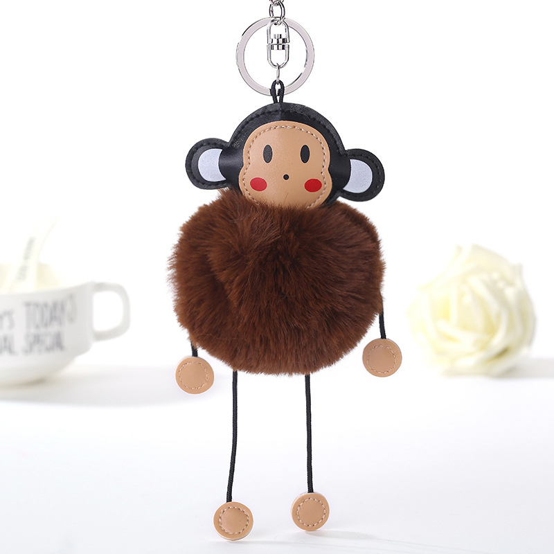 12 Colors Fluffy Artificial Bunny Fur Ball Tassel Keychain Womens Pompom Monkey  Keyring For Girl Bag Key Chain Car Key Ring nmd-in Key Chains from Jewelry  ... 26a7ad6018