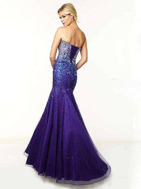 2015 trompeta estilo / sirena vestido de novia sin mangas de barrido ...