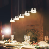 레스토랑 펜 던 트 조명 다이닝 룸 바 부엌 매달려 램프 현대 장식 알루미늄 북유럽 현대 간단한 산업 Led 램프