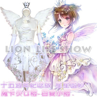 Mujeres card captor sakura kinomoto 15a white bride wedding dress cosplay