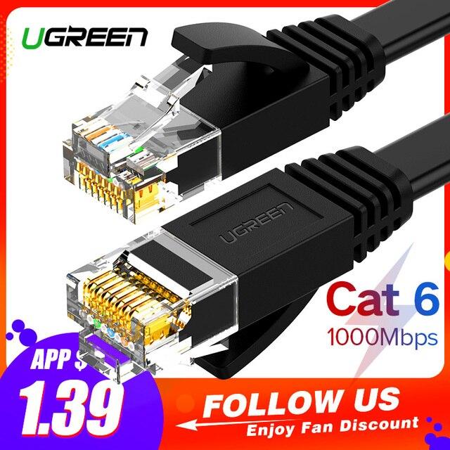 Ugreen Ethernet кабель Cat6 lan Cable utp CAT 6 RJ 45 сетевой кабель 10 м/50 м/100 м патч-корд для ноутбука маршрутизатор RJ45 сетевой кабель