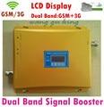 ГОРЯЧАЯ ЖК-Дисплей 3 Г W-CDMA 2100 МГц GSM 900 МГц Dual Band сотовый Телефон Усилитель Сигнала GSM 900 2100 UMTS Сигнал Повторителя усилитель