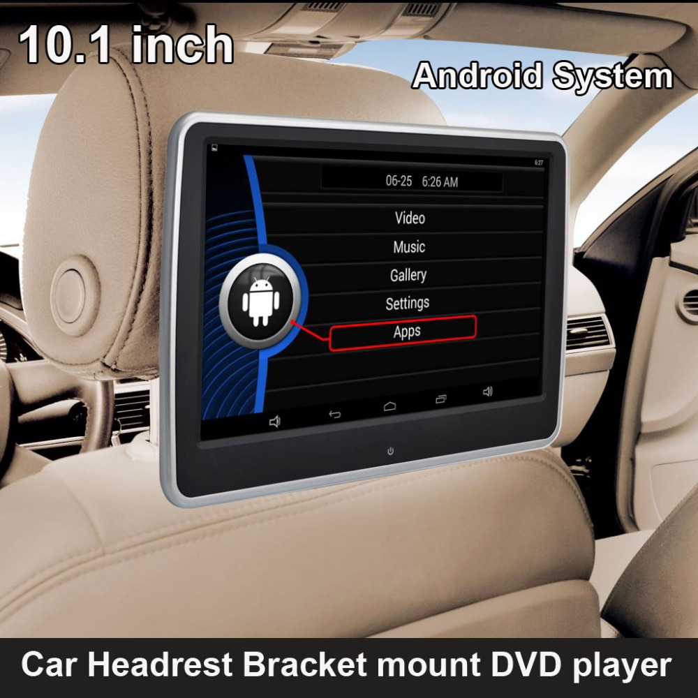 10 1 inch android system car headrest bracket multimedia. Black Bedroom Furniture Sets. Home Design Ideas
