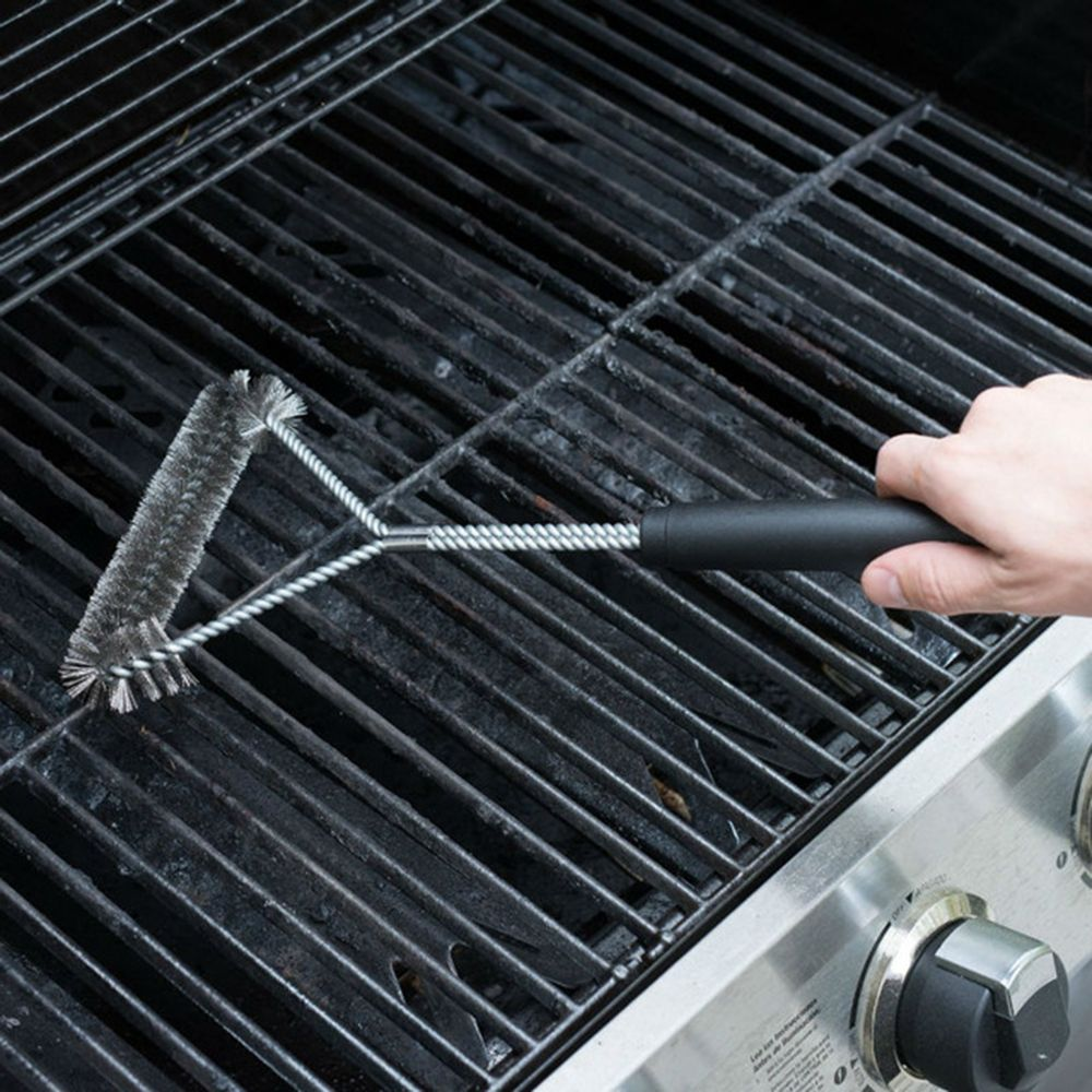 Non stick Barbecue Grill BBQ Brush Stainless Steel Wire Bristles ...