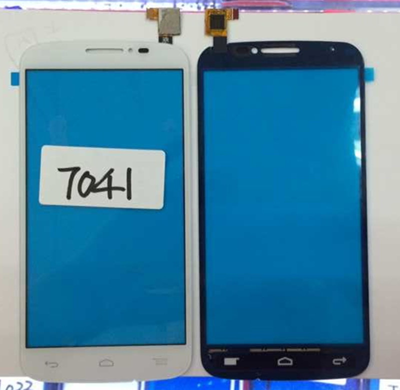 Alcatel One Touch Pop C7 7041 Touch screen Panel Digital replacement parts For OT-7041X 7041D smartphone white Free shipping