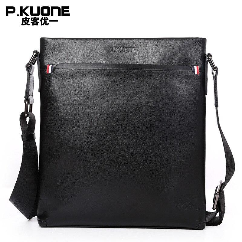 Новое поступление 2017 года натуральная кожа мужские Портфели сумка-мессенджер Сумки Высокое качество Мужская сумка для отдыха портфель P610867