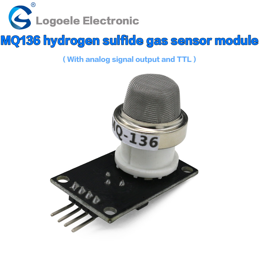 Free Shipping MQ136 hydrogen sulfide detection sensor to send a full set of information MQ-136 the H2S sensor module  free shipping band shell 0 5a ac current sensor to detect the full range of linear output delay