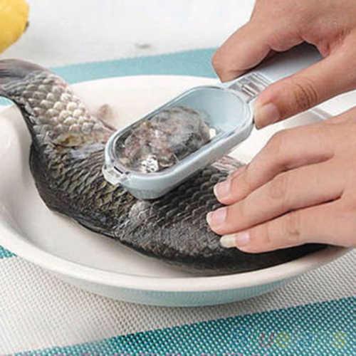 1 قطعة السمك الجلد نظيفة مزيل كشط مقياس السمك فرشاة Graters سريع إزالة أدوات المطبخ لون عشوائي