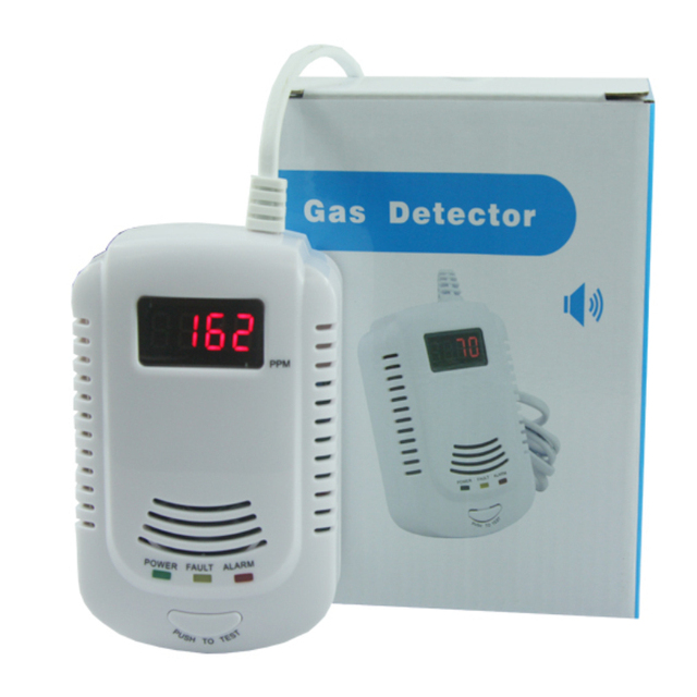 LPG Gas Leak Detector Alarm with Electromagnetic Solenoid Value for Gas Leakage Auto Shut Off AG Security Factory