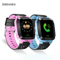 Kids Anti Lost GPS Smart Watch Children Touch Screen SOS Call Location Tracker Wristwatch For Kids