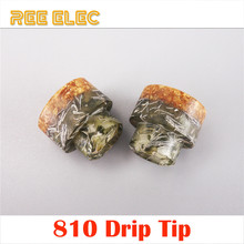 REE ELEC Resin 810 Drip Tip RDA Atomizer Mouth Piece 810 Wide Bore Drip Tips Electronic Cigarette Vape Pen Accessories
