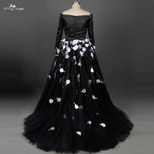 TW0202 Fashionable Special Design Black Wedding Dress 2018 Ball Gown Romantic Tulle Bride Dress Custom Made Vestido De Noiva
