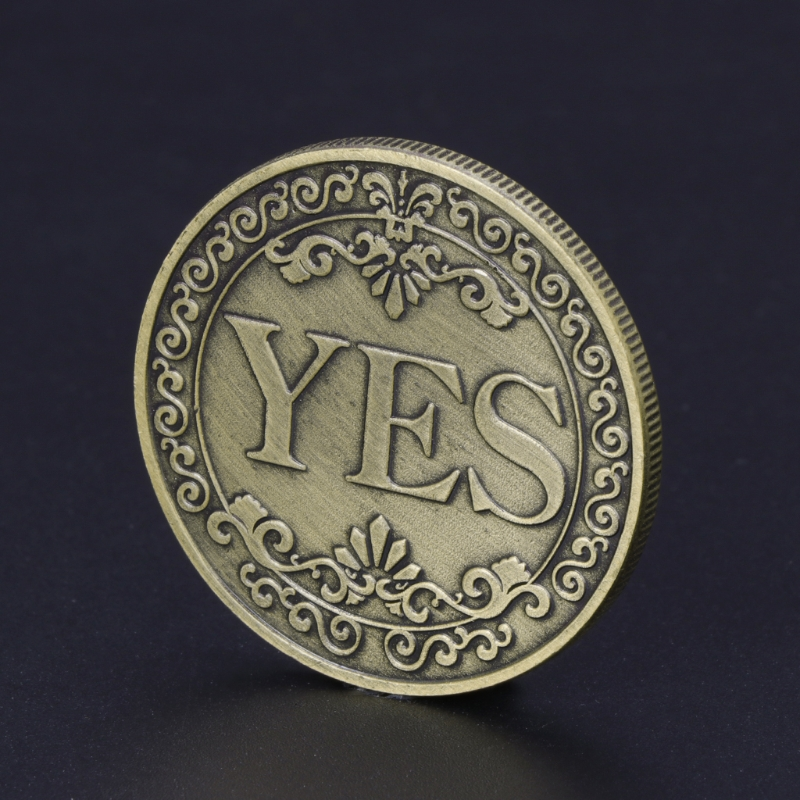 Floral YES NO Letter Ornaments Collection Arts Gifts Souvenir Commemorative Coin collection enthusiastsFloral YES NO Letter Ornaments Collection Arts Gifts Souvenir Commemorative Coin collection enthusiasts