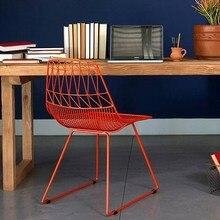 Современный дизайн чердак Плетенный металлический стул, стальная Алмазная Проволока Стул, чердак металлическая проволока мягкое кресло, бертоя проволока стул, кафе стул 1 шт