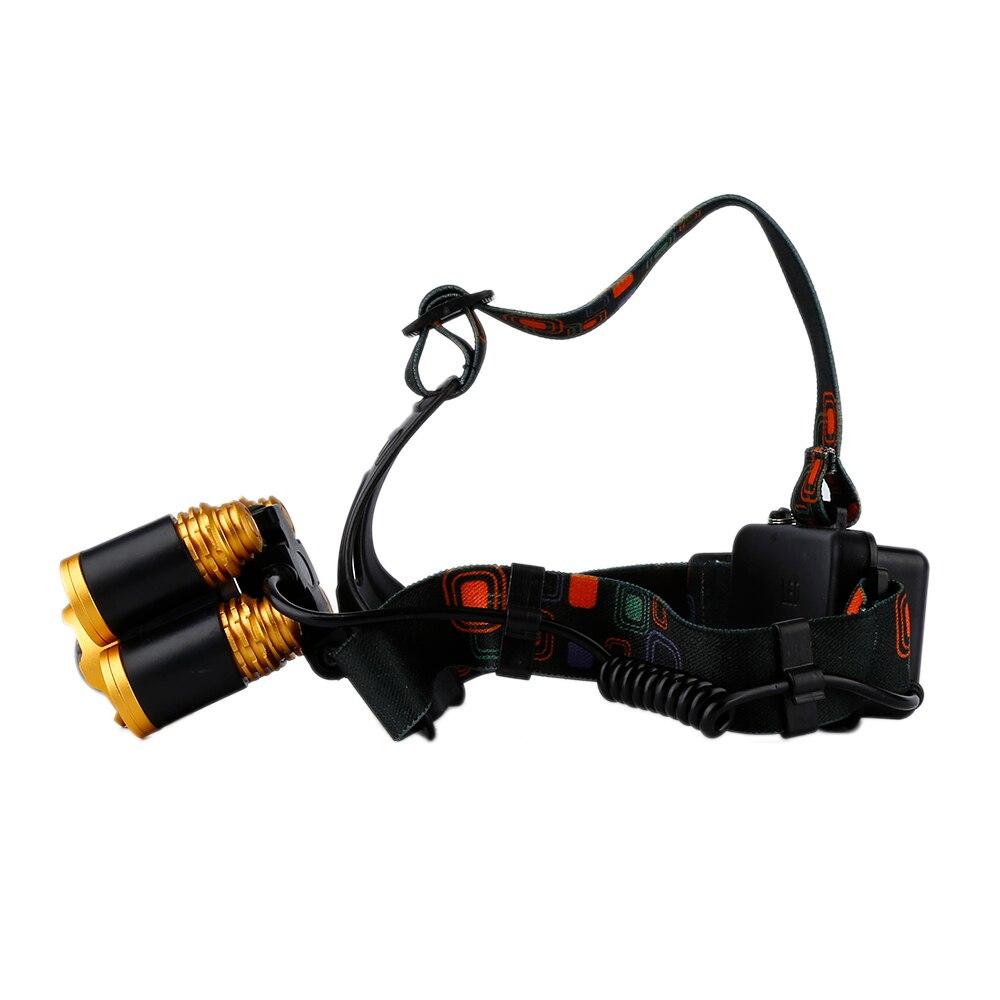 800 люмен Аккумуляторная фары открытый аварийное 5 светодиодный Spotlight зарядки набор для кемпинга охота Пеший Туризм Рыбалка