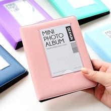 64 кармана мини фотоальбом для Instant Polaroid чехол для фото для Fujifilm Instax Mini Фильм 7s 8 25 50s 90 instax Mini Polaroid Альбом
