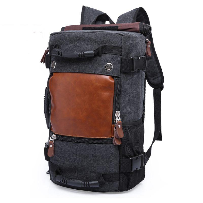 LHLYSGS Stylish Travel Large Capacity Backpack Male Luggage Shoulder Bag Multifunction Design Computer Backpacking stylish multifunction telescopic design lid angled fiber blush brush