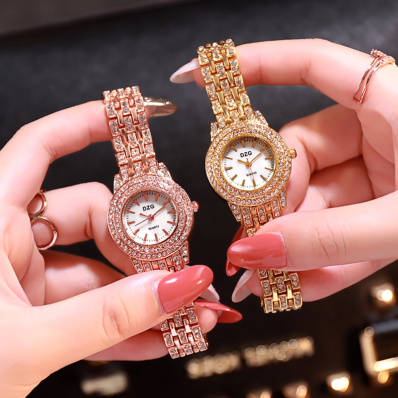 New Luxury Ladies Dress Crystal Watch Women Quartz Wristwatches Steel Belt Small Clock Fashion Diamond Ladies Starry Sky Watch in Women 39 s Watches from Watches